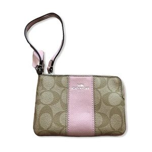 COACH Pink and Cream Wristlet